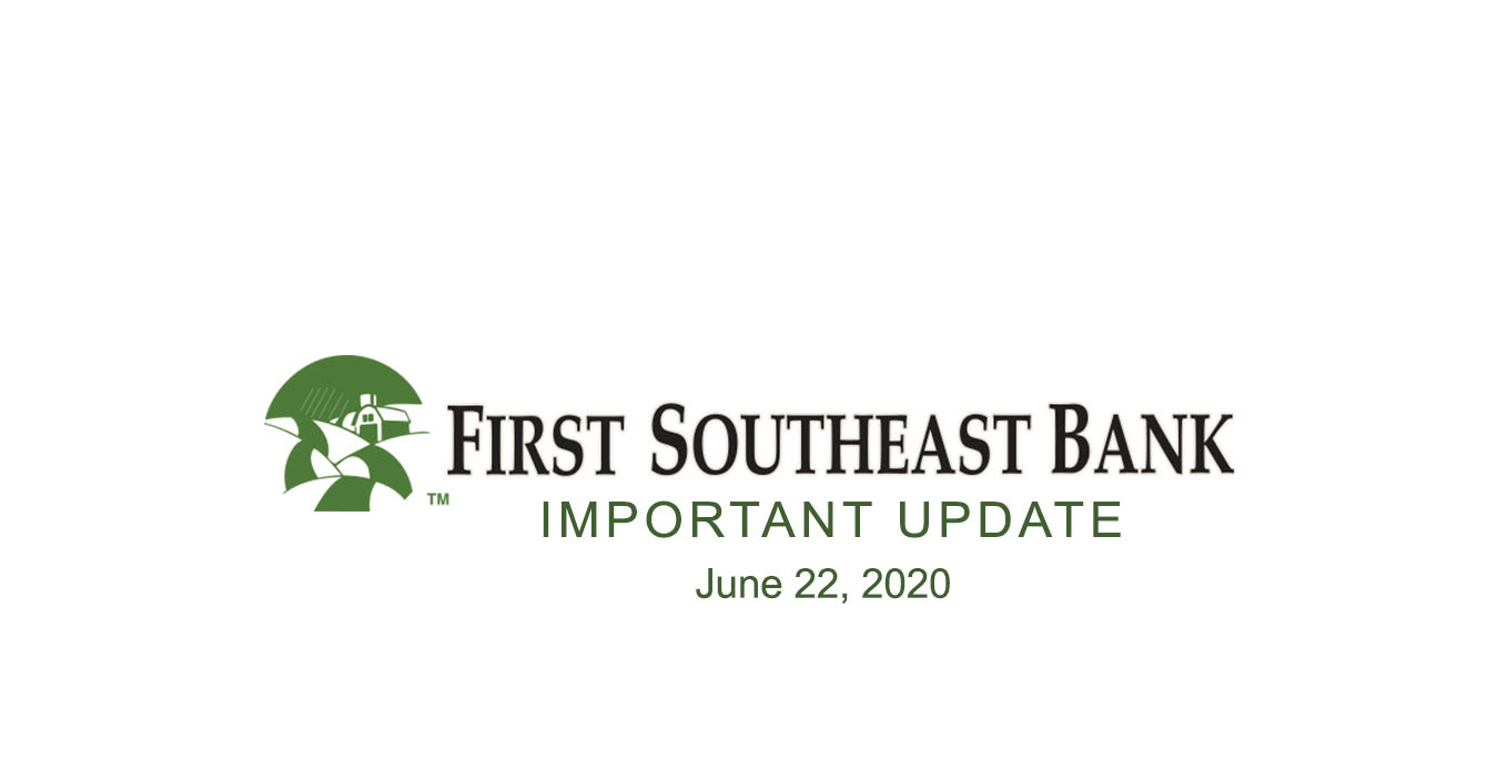 Press Release Message from First Southeast Bank's CEO Christopher Skaalen
